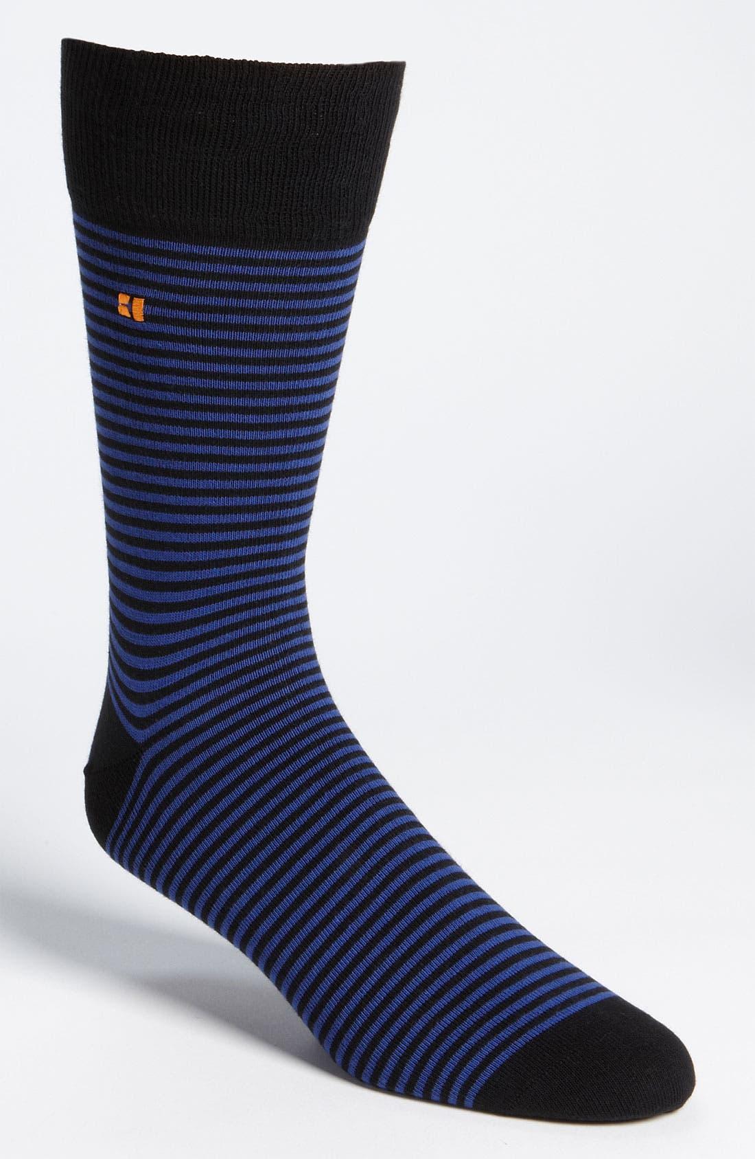 Alternate Image 1 Selected - BOSS Orange Thin Stripe Socks