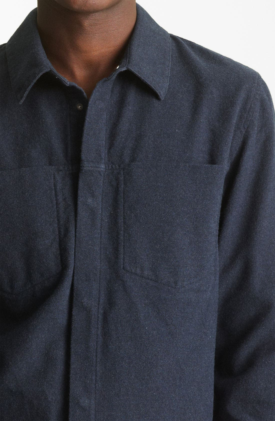 Alternate Image 3  - T by Alexander Wang Cotton Flannel Shirt
