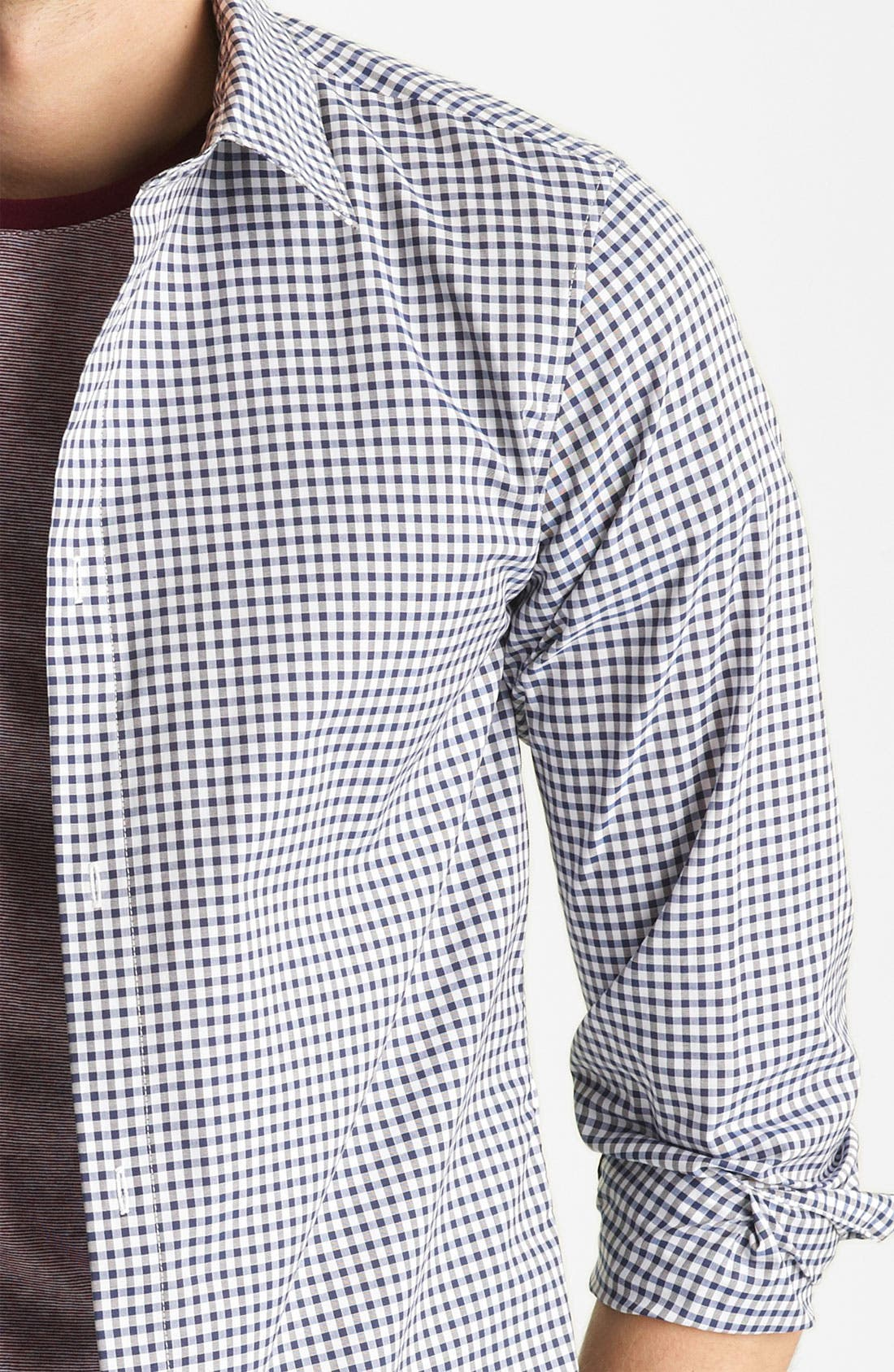 Alternate Image 3  - A.P.C. Gingham Shirt