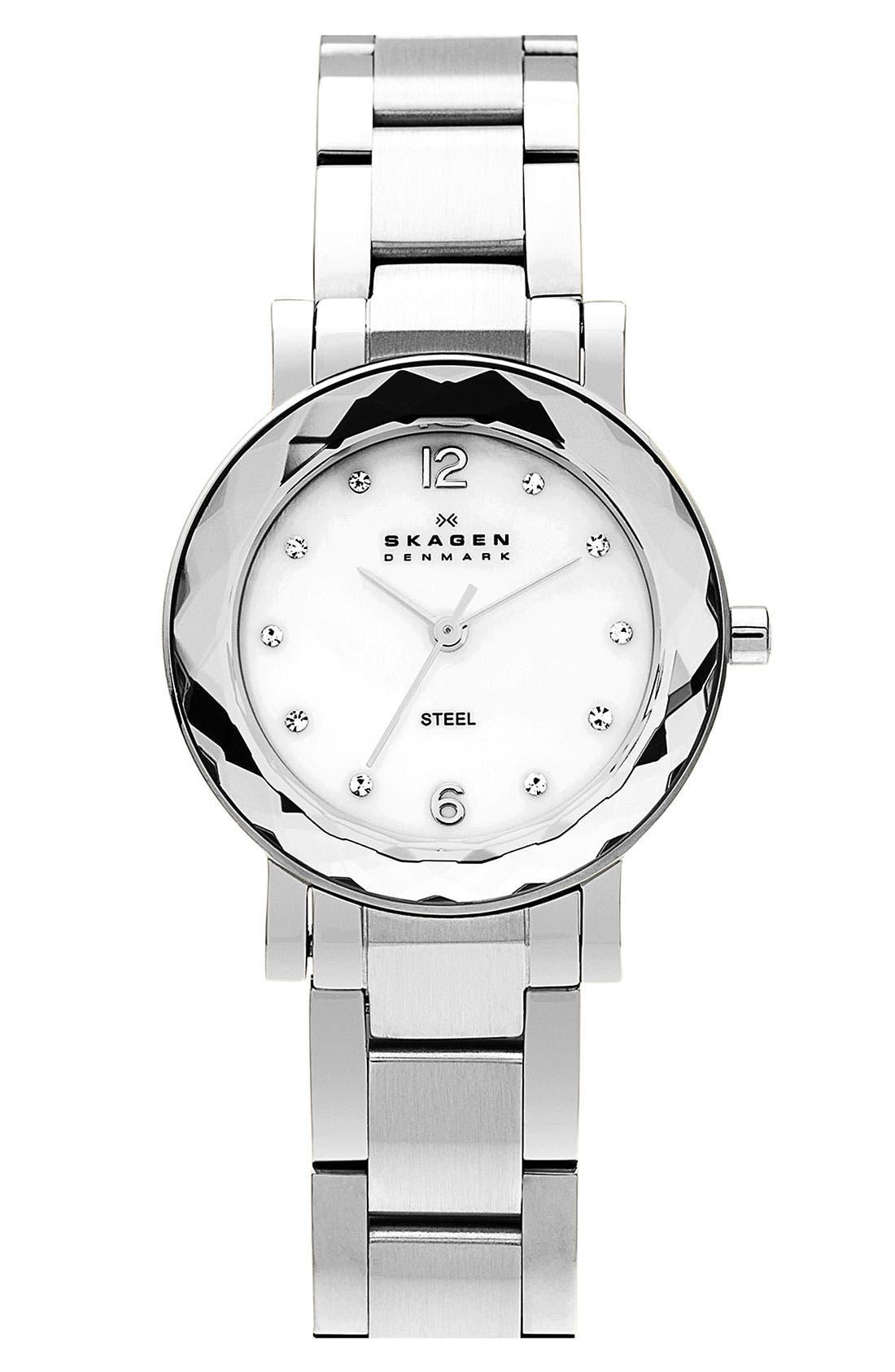 Alternate Image 1 Selected - Skagen Round Bracelet Watch, 28mm
