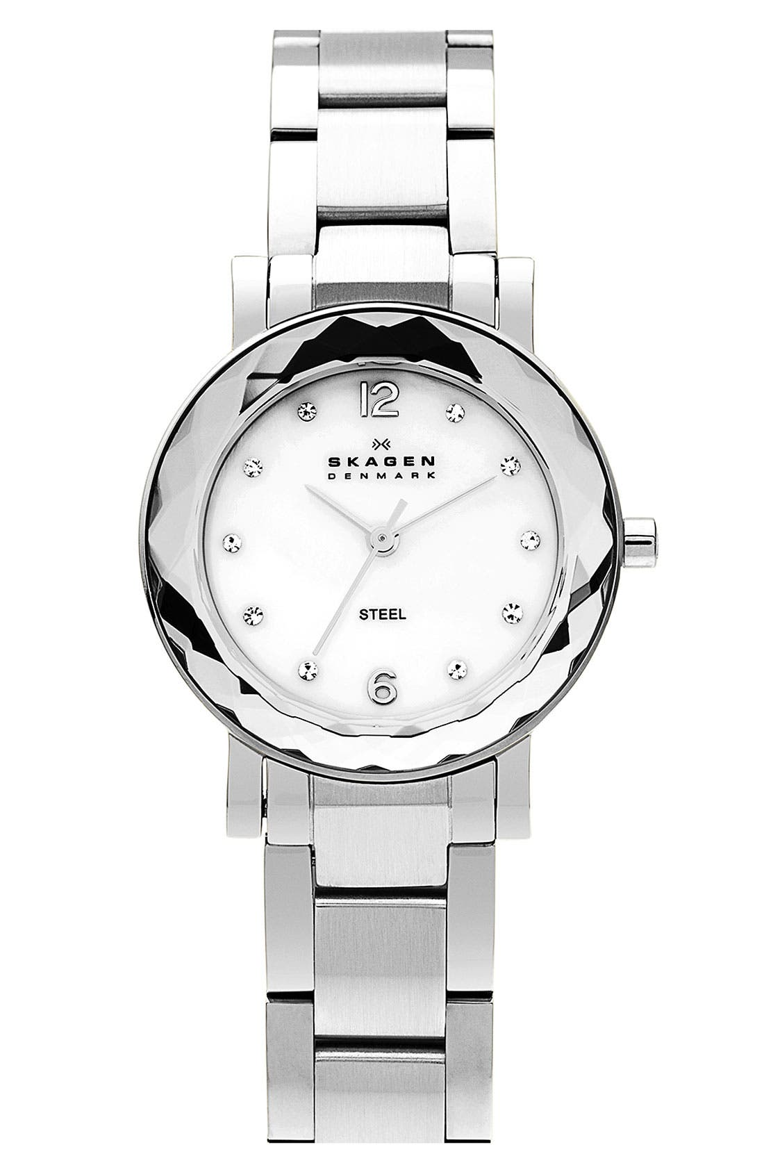 Main Image - Skagen Round Bracelet Watch, 28mm