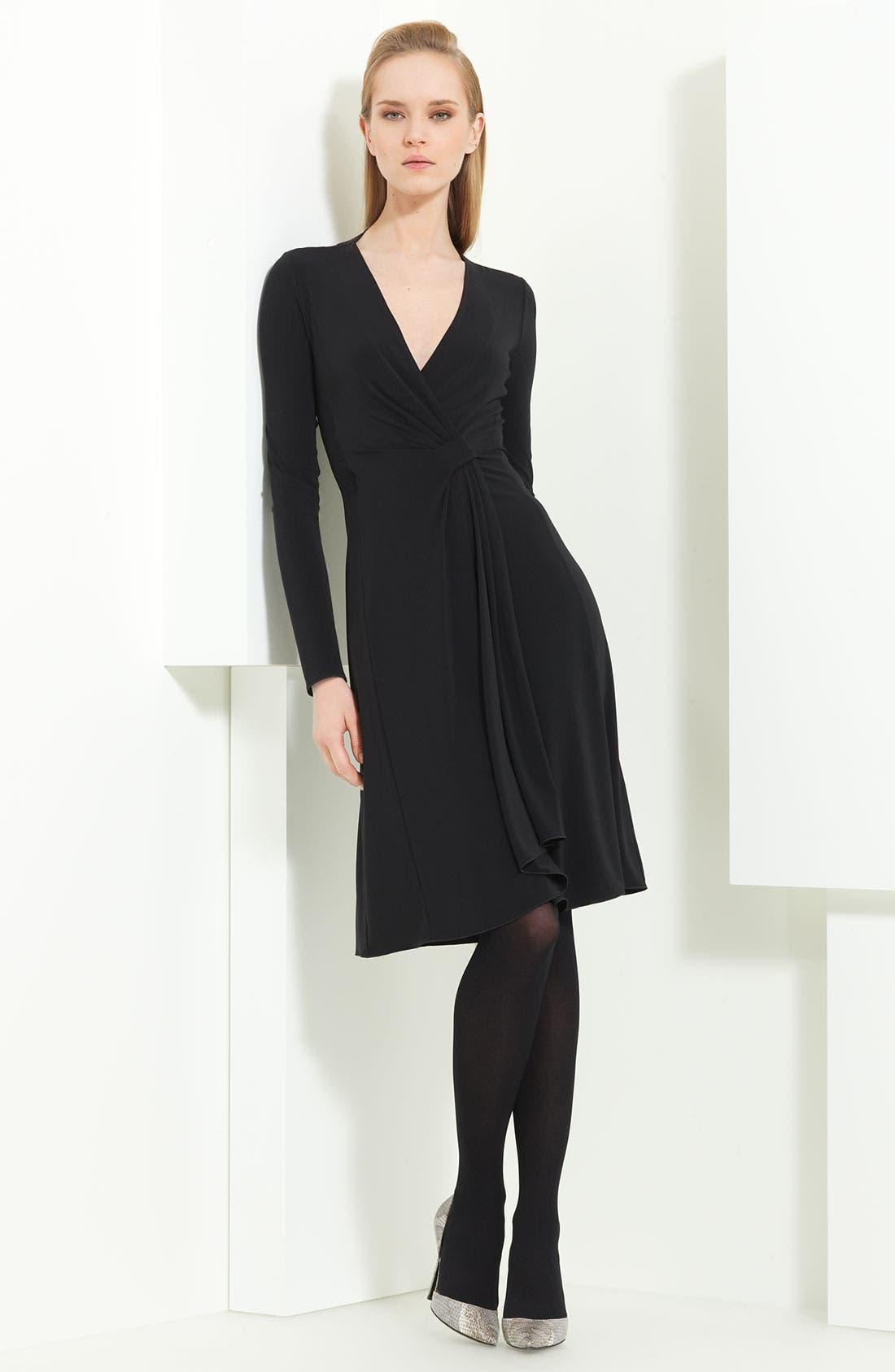 Main Image - Armani Collezioni Matte Jersey Dress