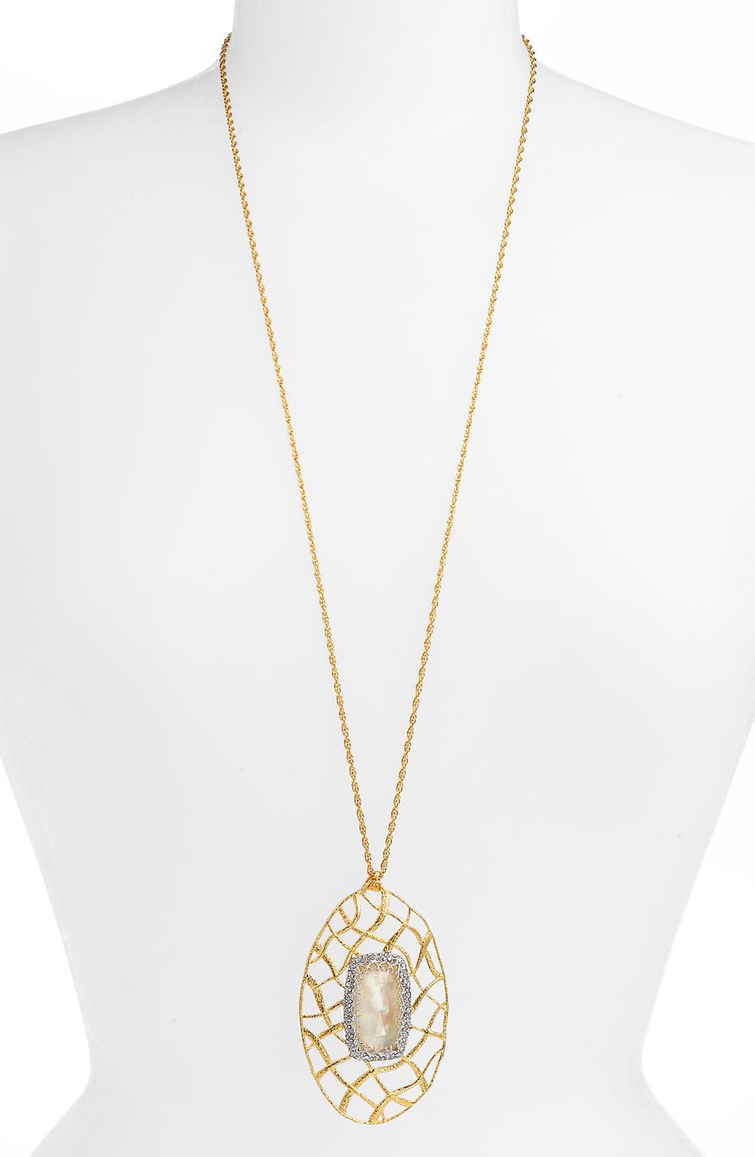 Alternate Image 1 Selected - Alexis Bittar 'Elements' Pavé Accent Long Pendant Necklace (Nordstrom Exclusive)