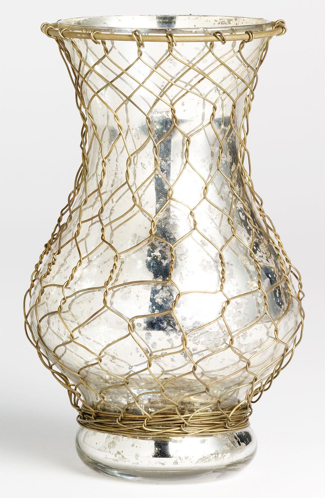 Main Image - Wire-Wrapped Mercury Glass Vase, Wide