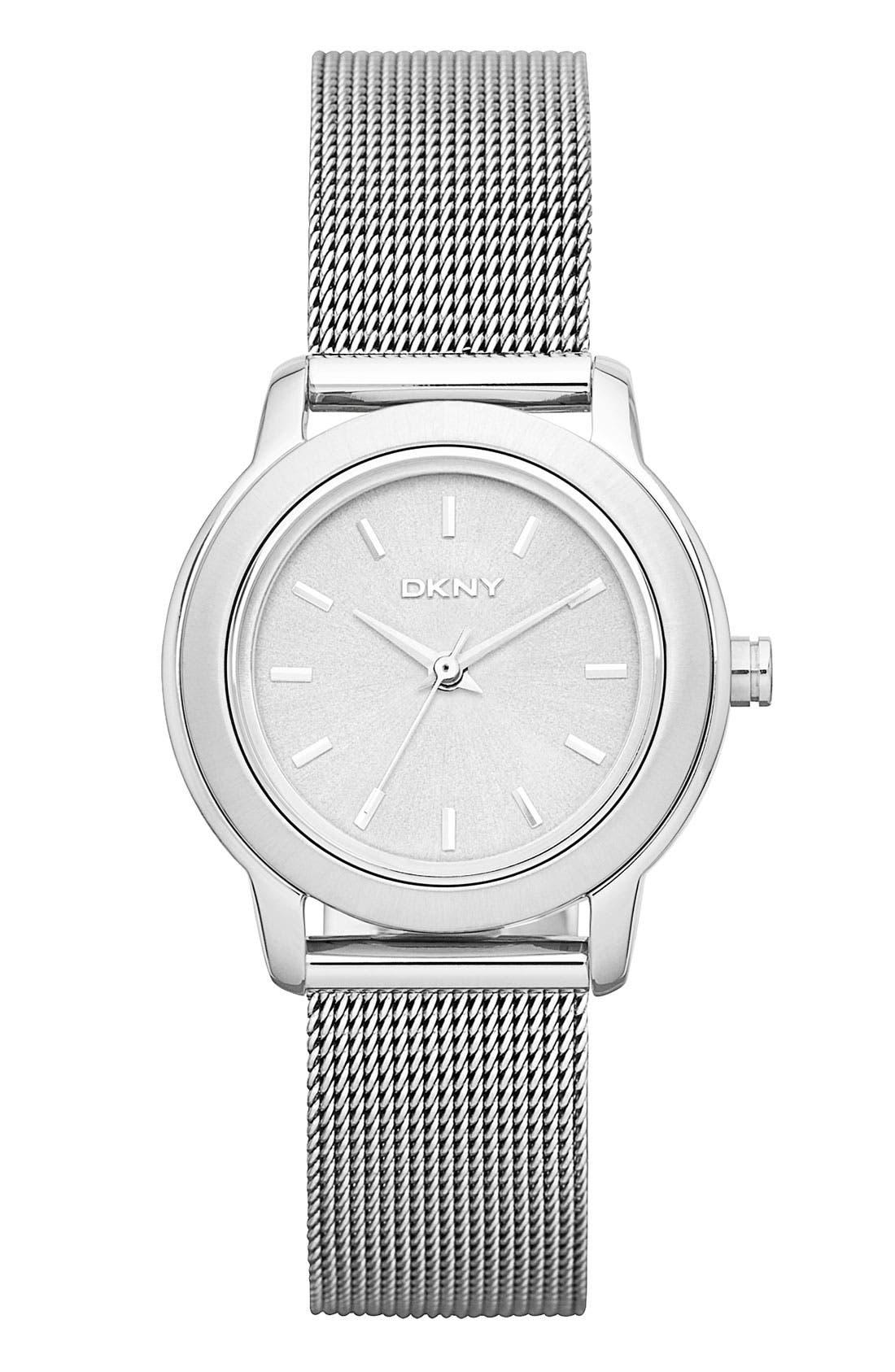 Main Image - DKNY 'Tompkins' Mesh Bracelet Watch, 28mm