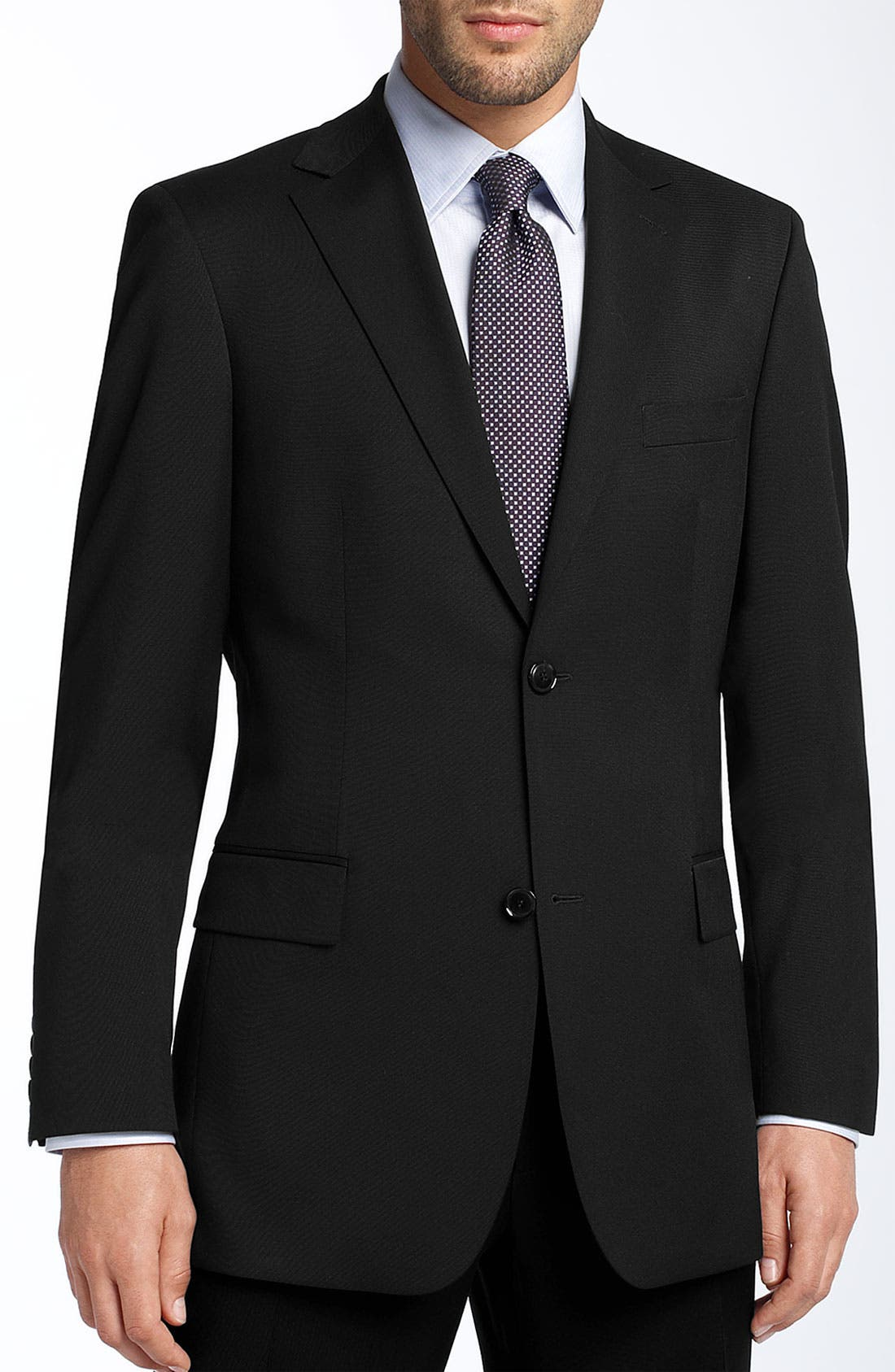 Alternate Image 1 Selected - BOSS HUGO BOSS 'Pasolini' Black Virgin Wool Sportcoat