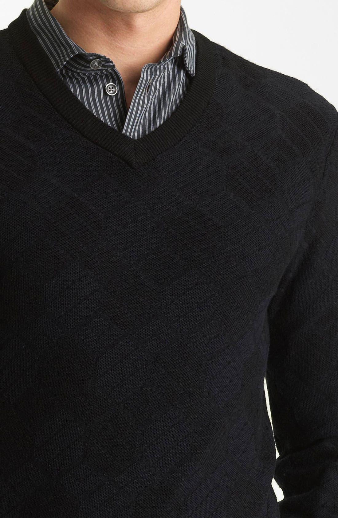 Alternate Image 3  - Armani Collezioni V-Neck Knit Sweater