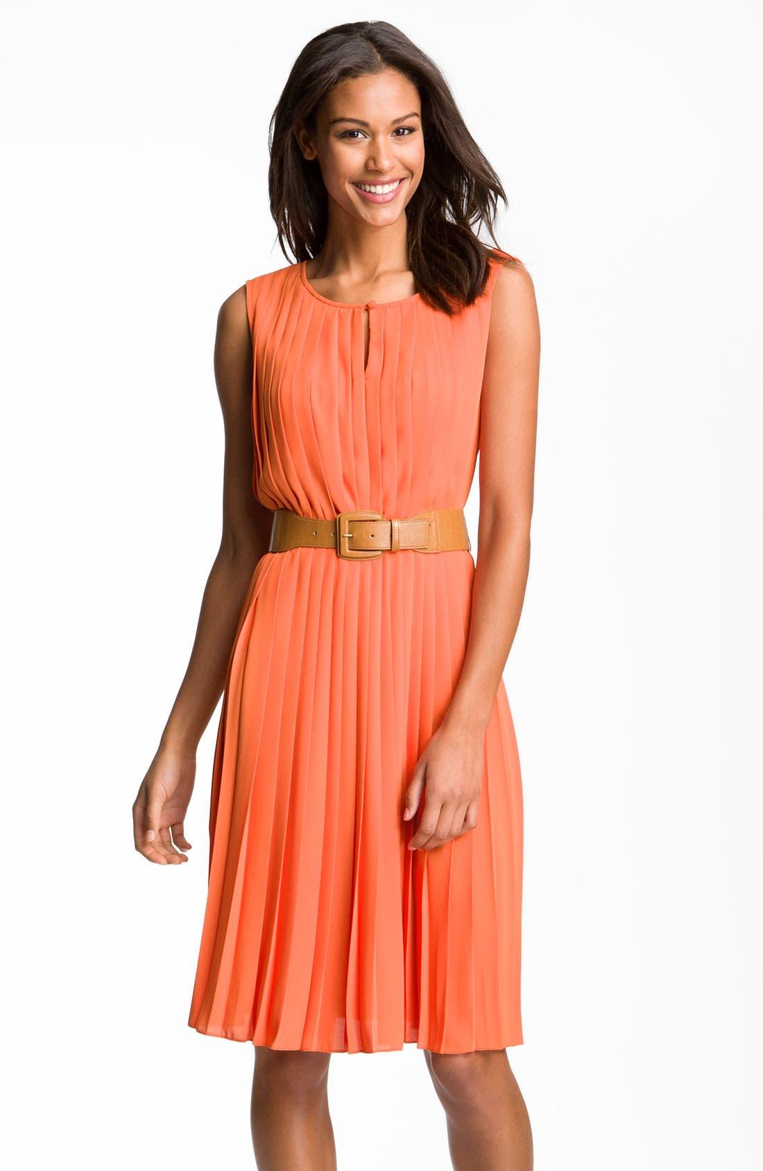 Alternate Image 1 Selected - Maggy London Sleeveless Pleated Chiffon Dress