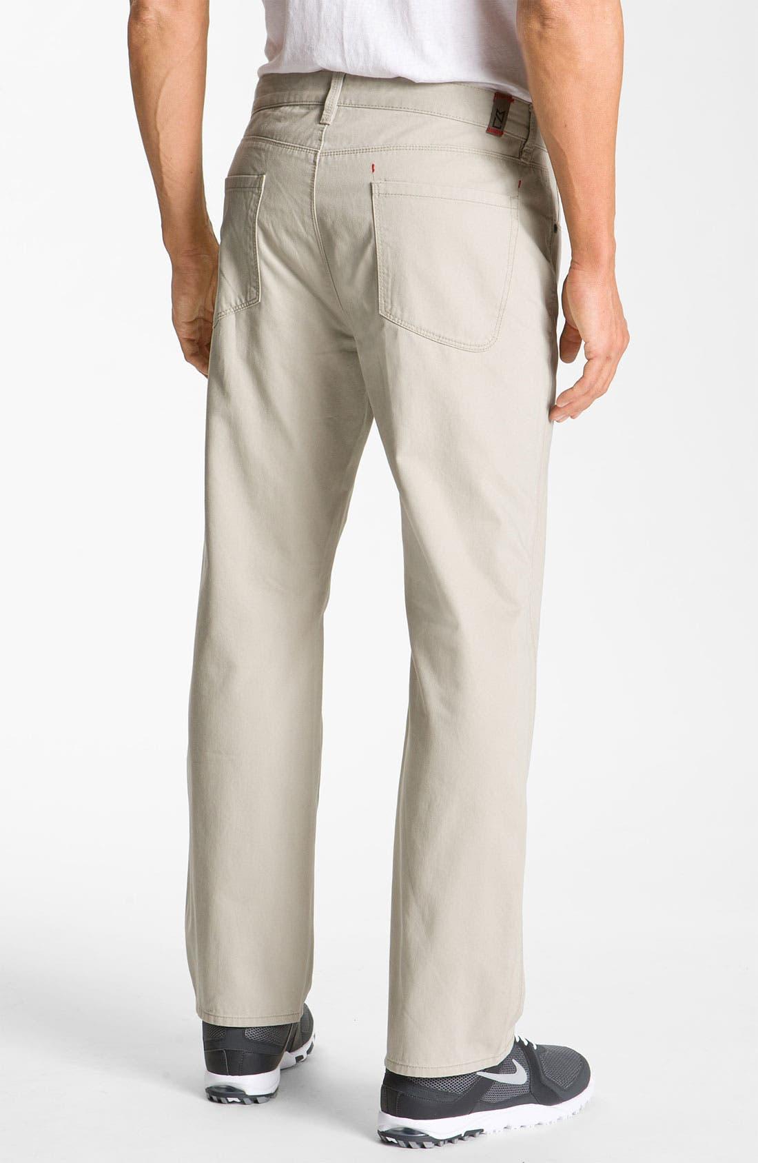 Alternate Image 2  - Cutter & Buck 'Pike' Five-Pocket Pants (Big & Tall)