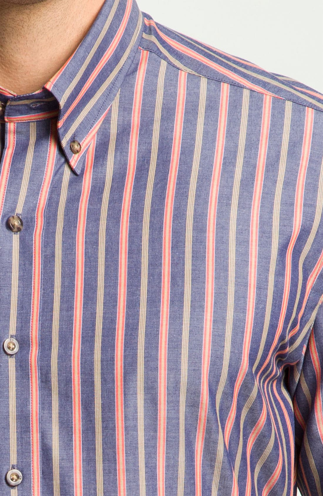 Alternate Image 3  - Cutter & Buck 'Harvest' Stripe Sport Shirt (Big & Tall) (Online Only)
