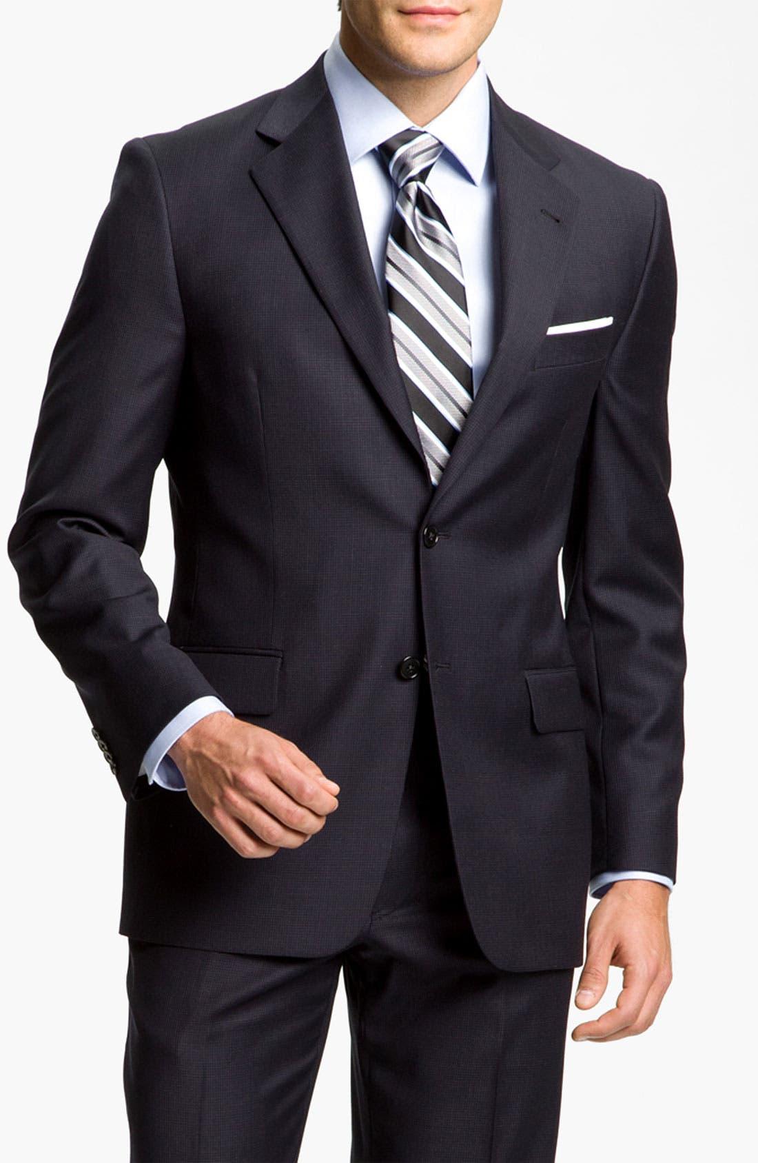 Alternate Image 1 Selected - Joseph Abboud 'Profile Hybrid Signature' Wool Suit