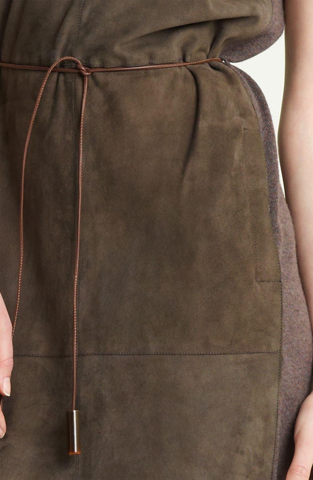 Alternate Image 4  - Fabiana Filippi Belted Suede & Knit Dress