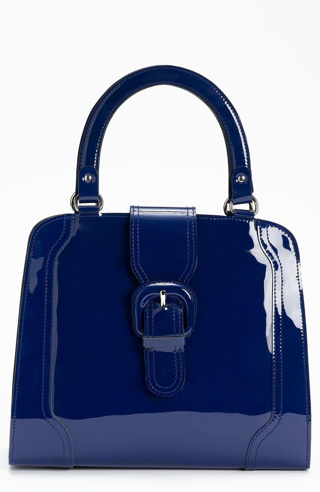 Main Image - Marni 'Medium' Patent Leather Frame Bag