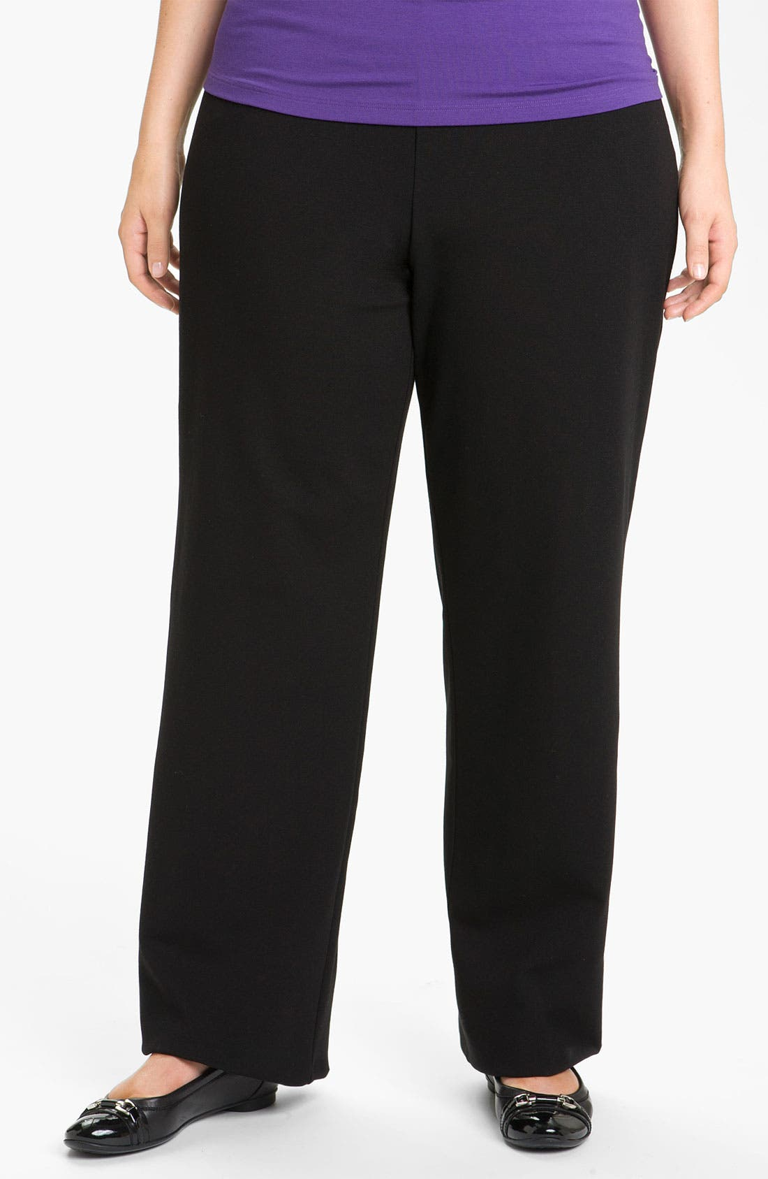 Alternate Image 1 Selected - Eileen Fisher Straight Leg Pants (Plus)