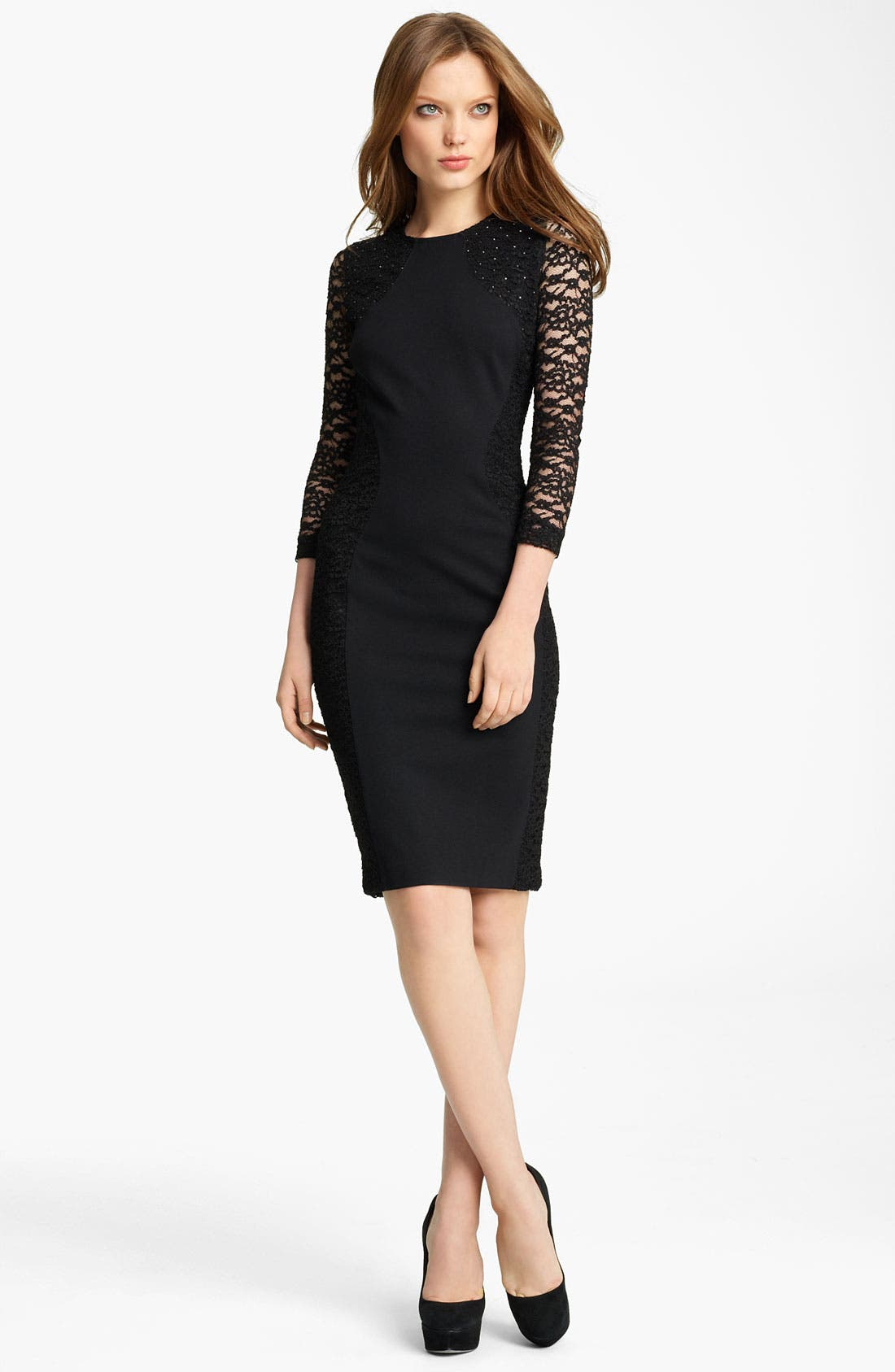Main Image - Blumarine Lace & Jersey Dress