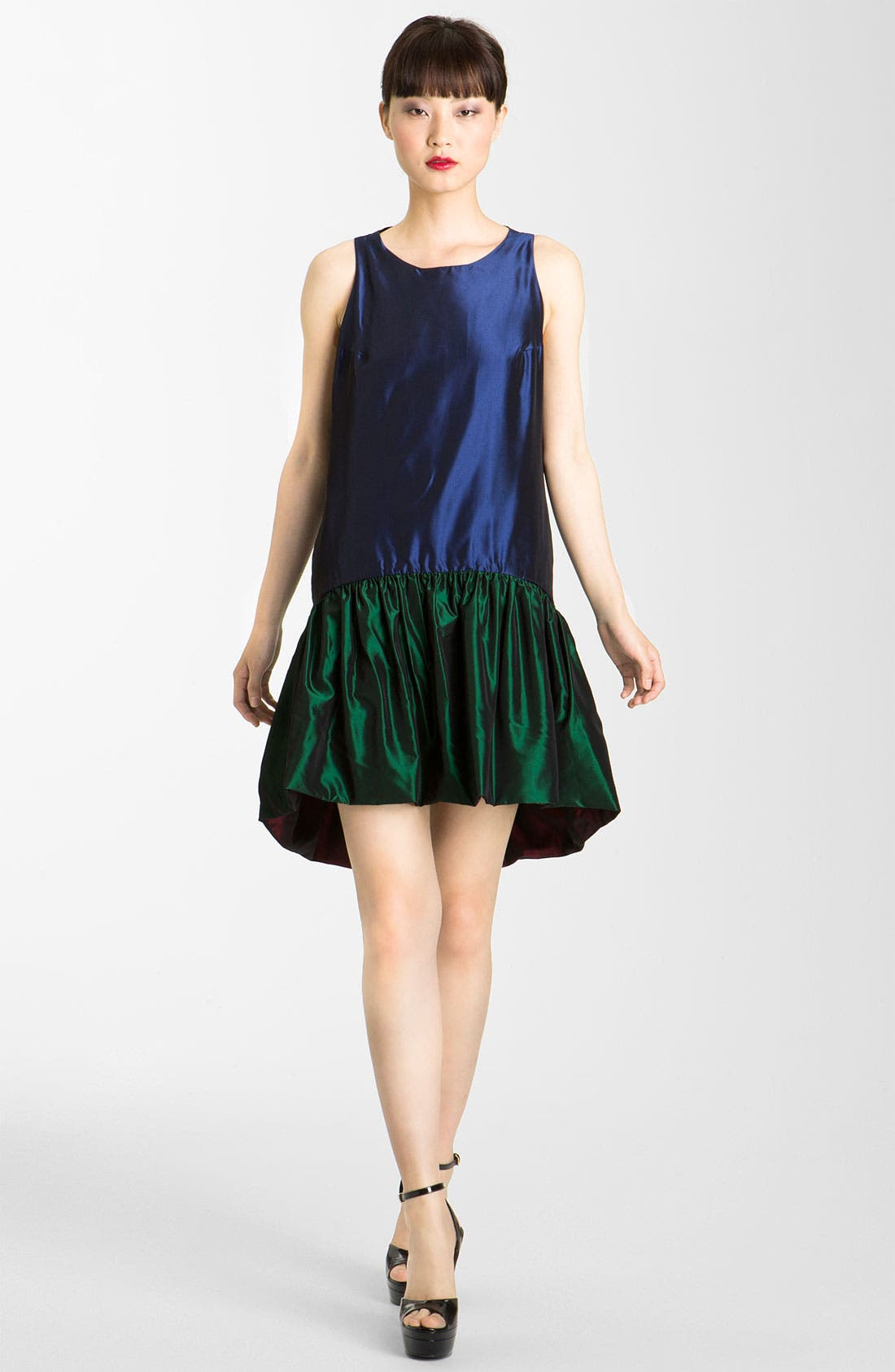 Alternate Image 1 Selected - KENZO Reversible Drop Waist Taffeta Dress