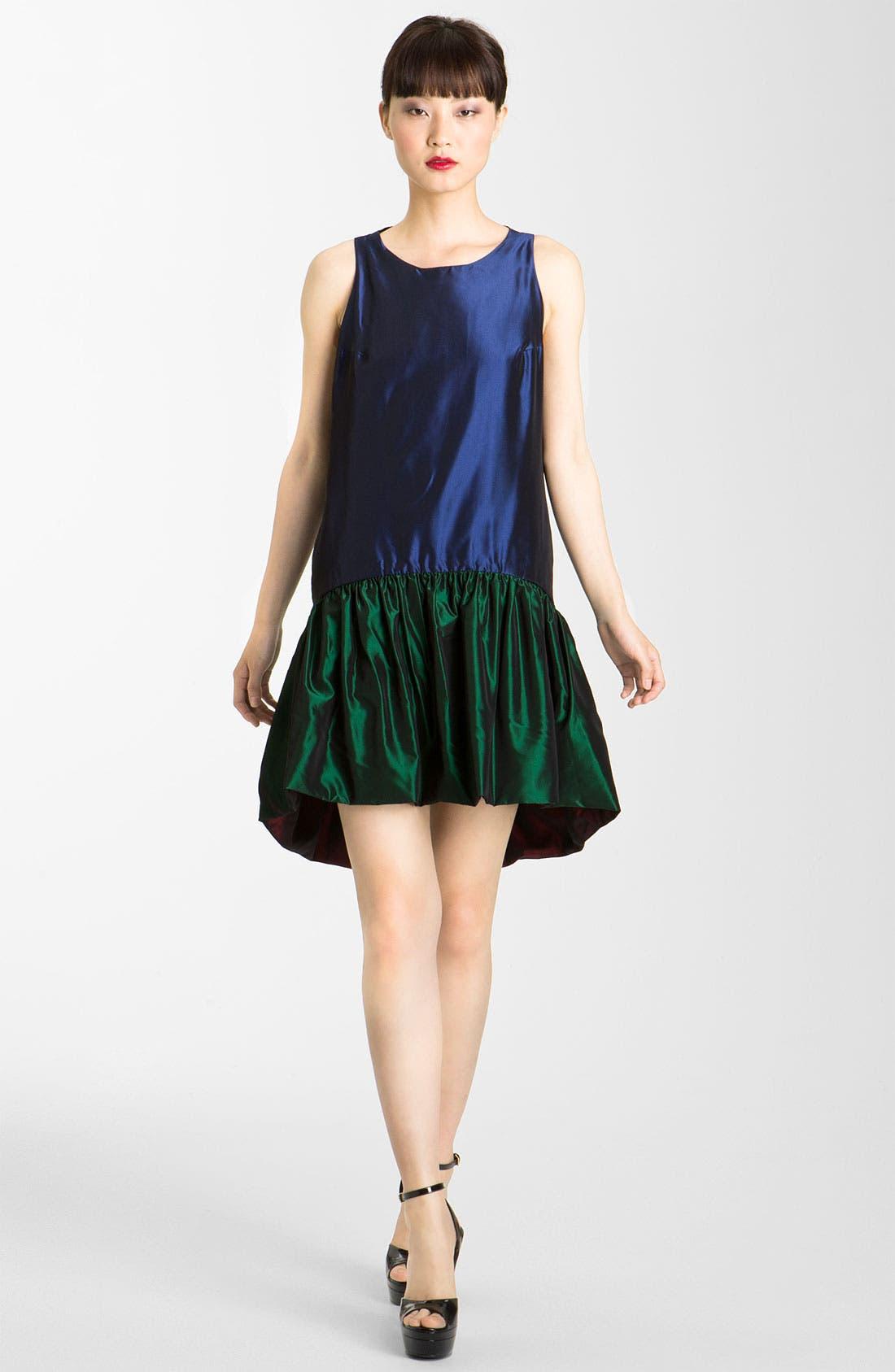 Main Image - KENZO Reversible Drop Waist Taffeta Dress