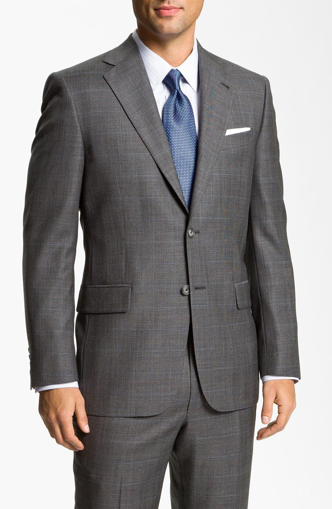 Main Image - Joseph Abboud 'Signature Silver' Plaid Suit