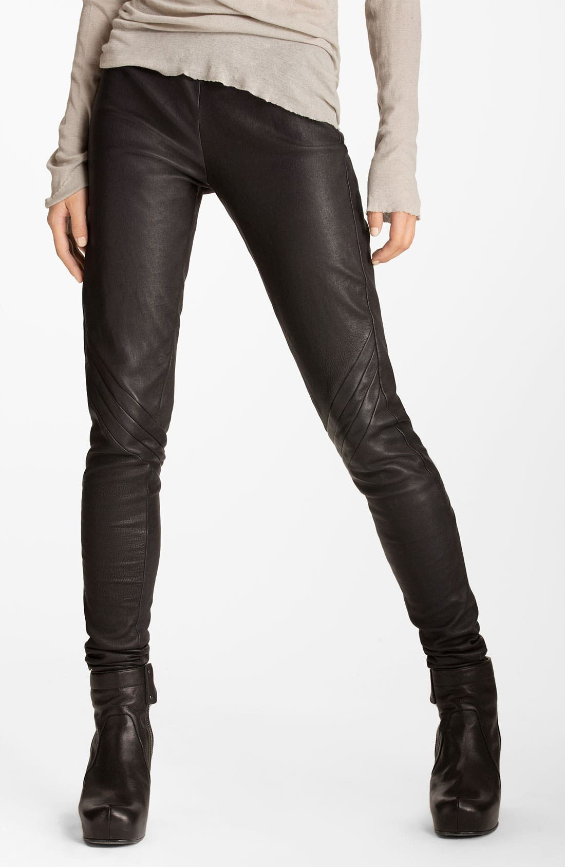 Main Image - Rick Owens Leather Leggings