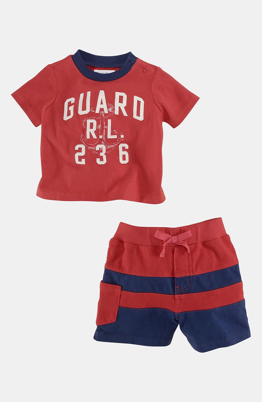 Alternate Image 2  - Ralph Lauren T-Shirt & Shorts (Infant)