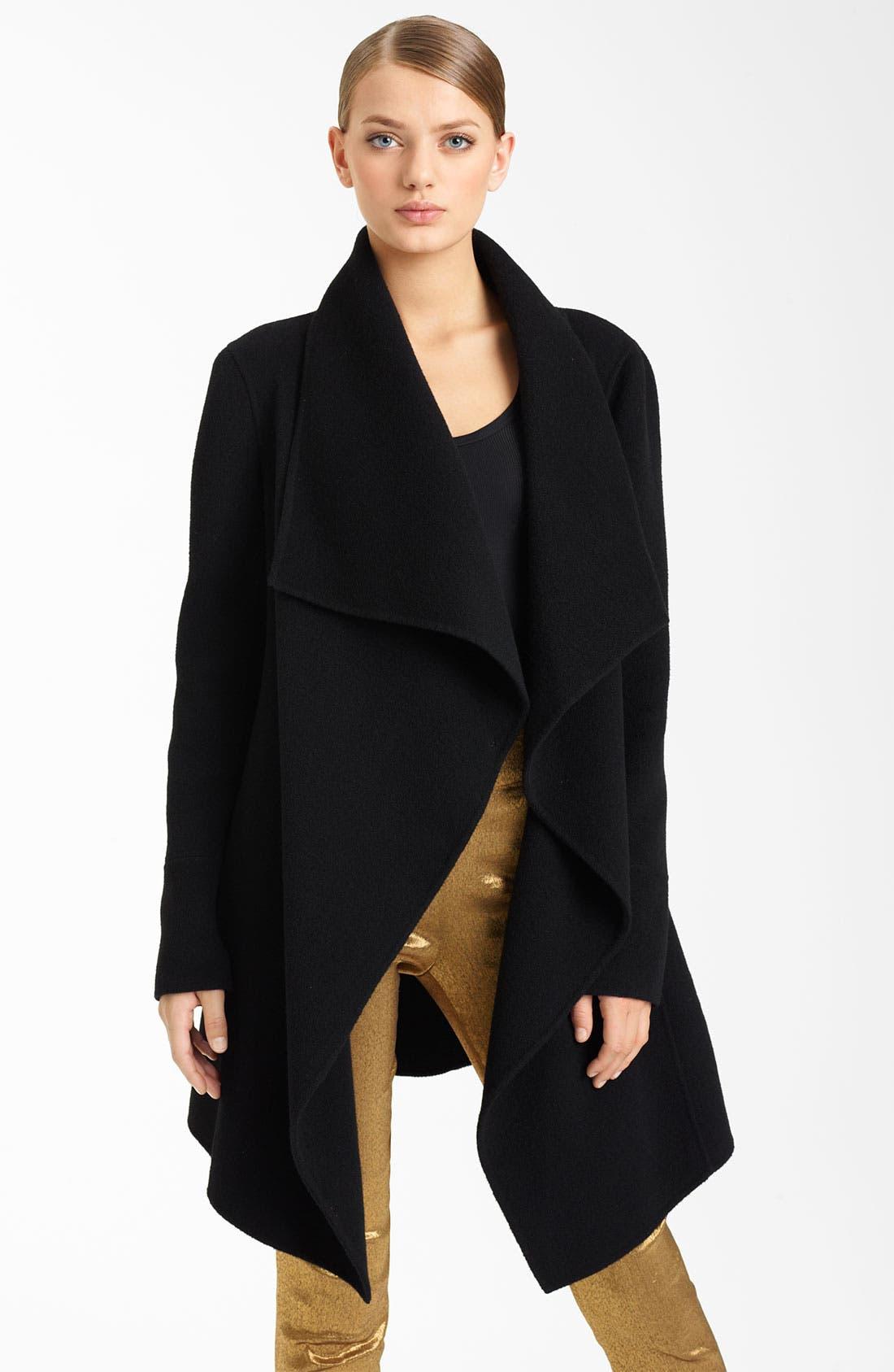 Alternate Image 1 Selected - Donna Karan Collection Belted Funnel Neck Coat