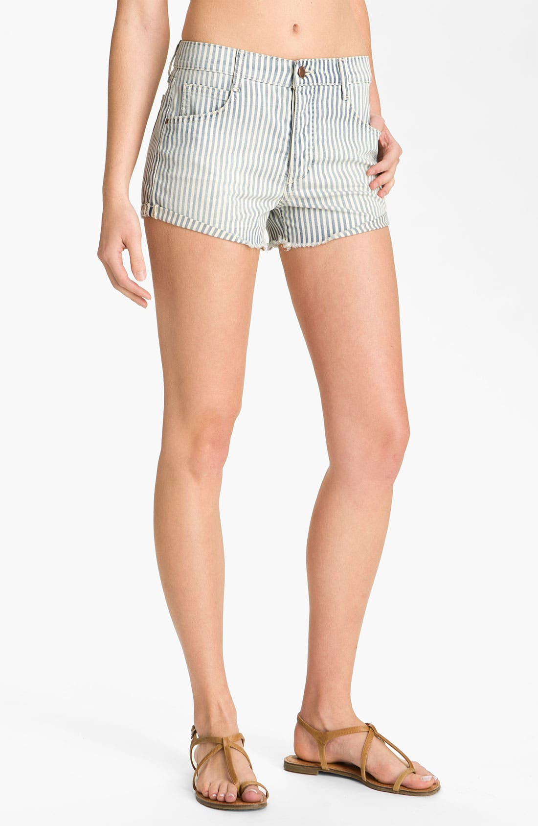 Alternate Image 2  - Joe's Cutoff Denim Shorts (Connie Stripe)