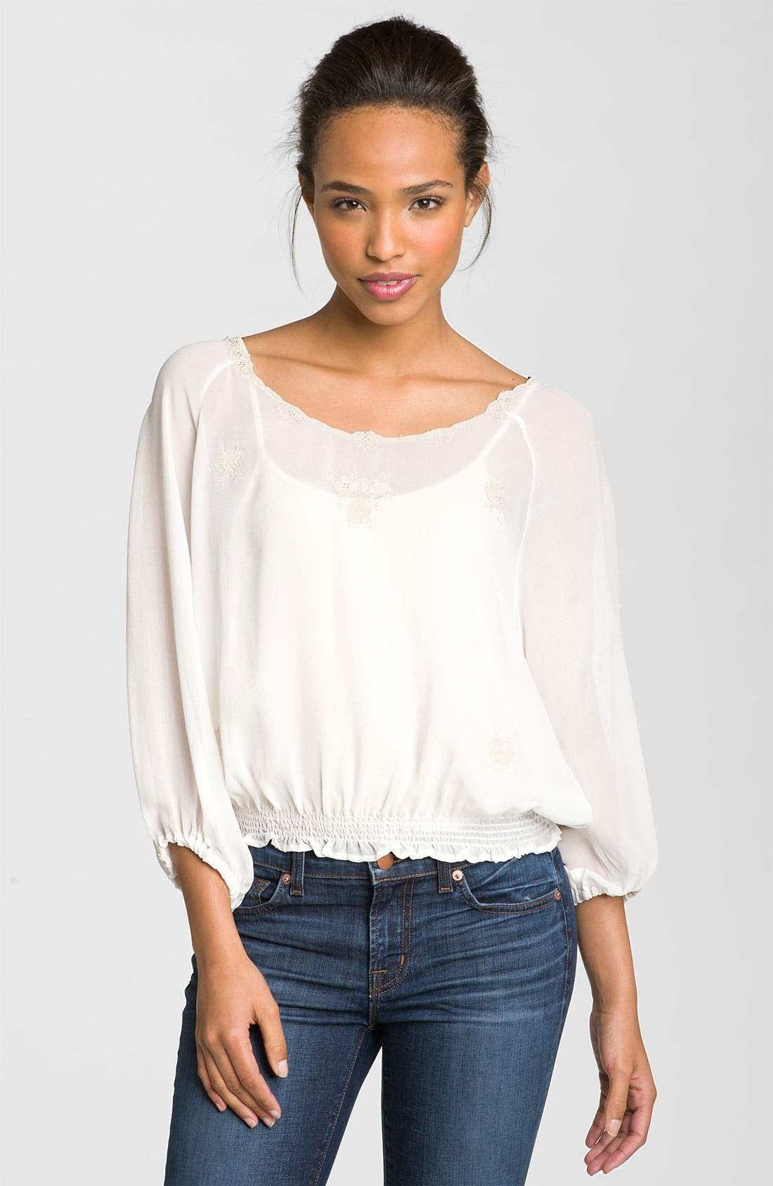 Alternate Image 1 Selected - Joie 'Carbon' Silk Top