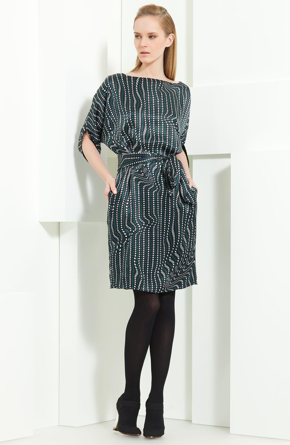 Main Image - Armani Collezioni 'Geo Wave' Print Silk Dress
