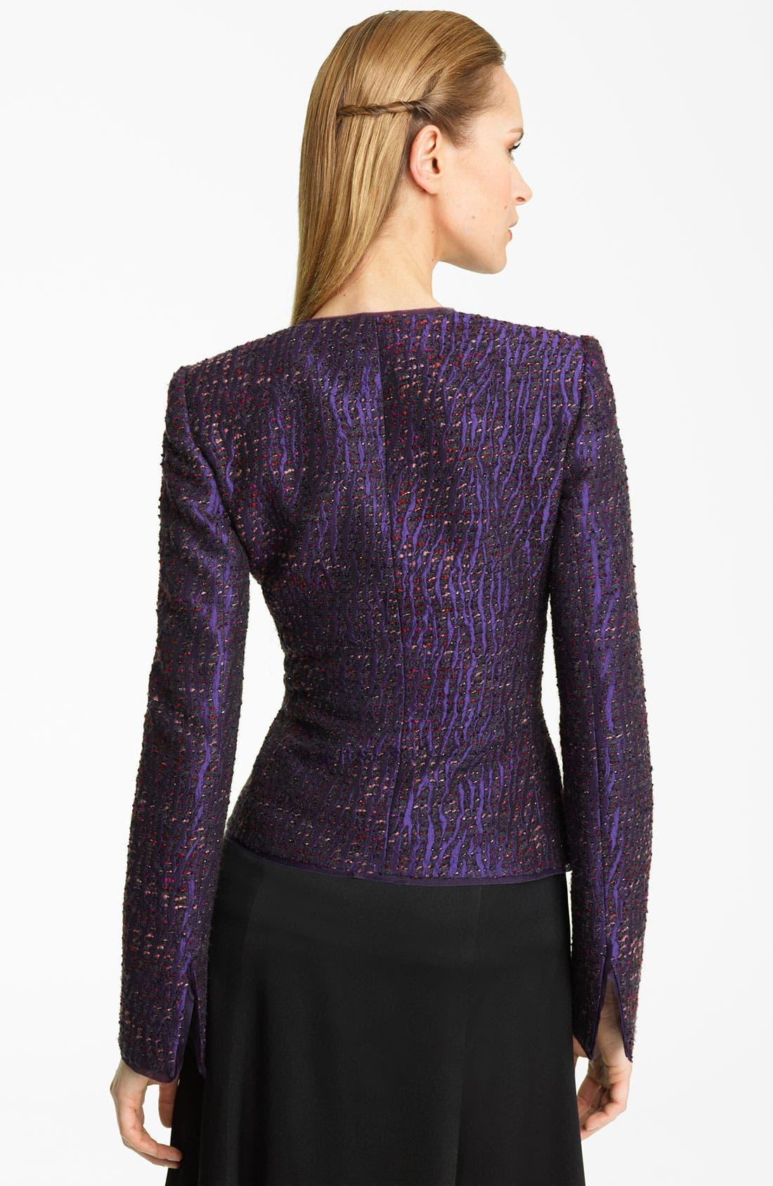 Alternate Image 2  - Armani Collezioni Lamé Textured Tweed Jacket