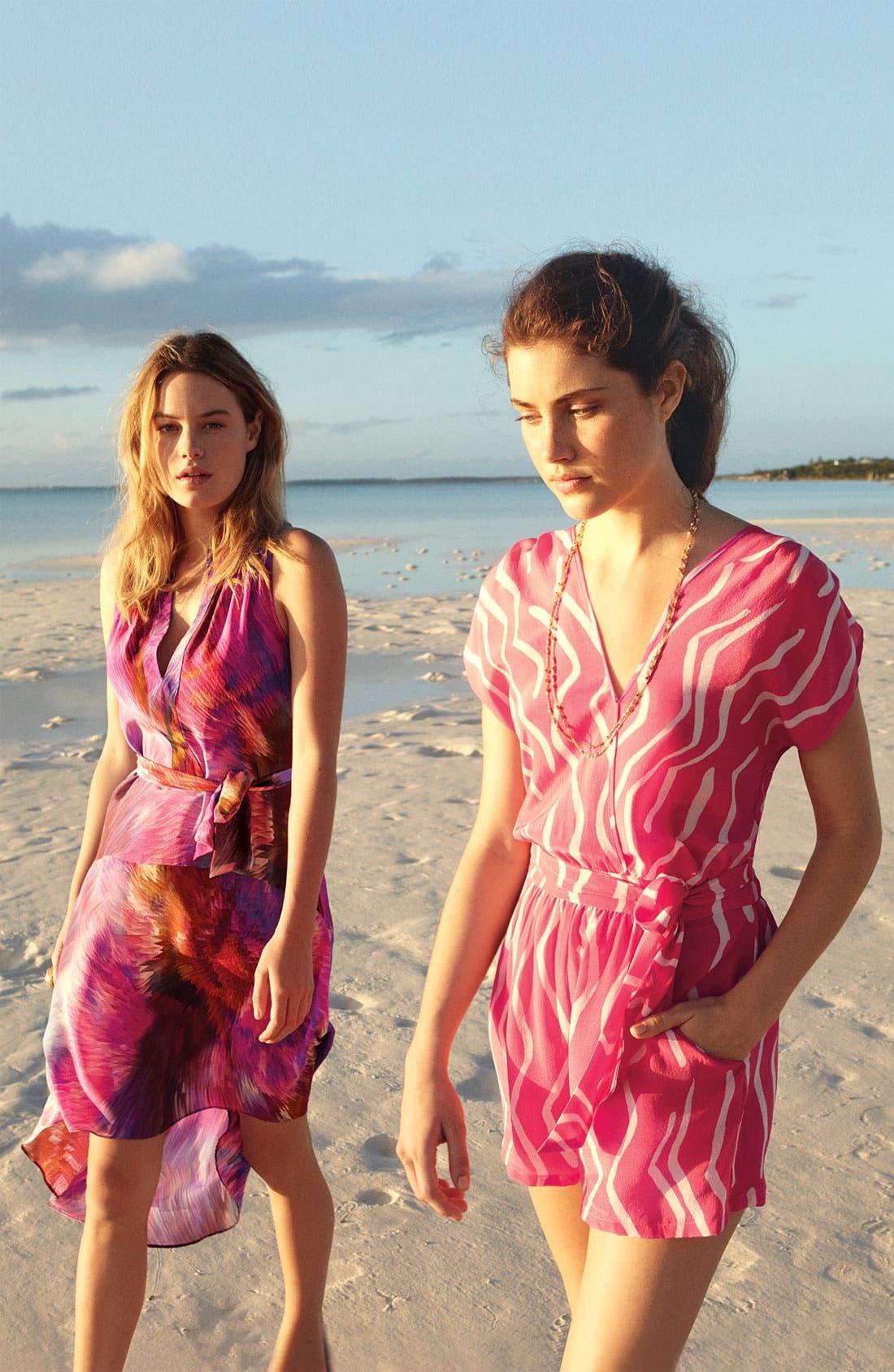Alternate Image 4  - Presley Skye Split Neck Silk Tunic Dress
