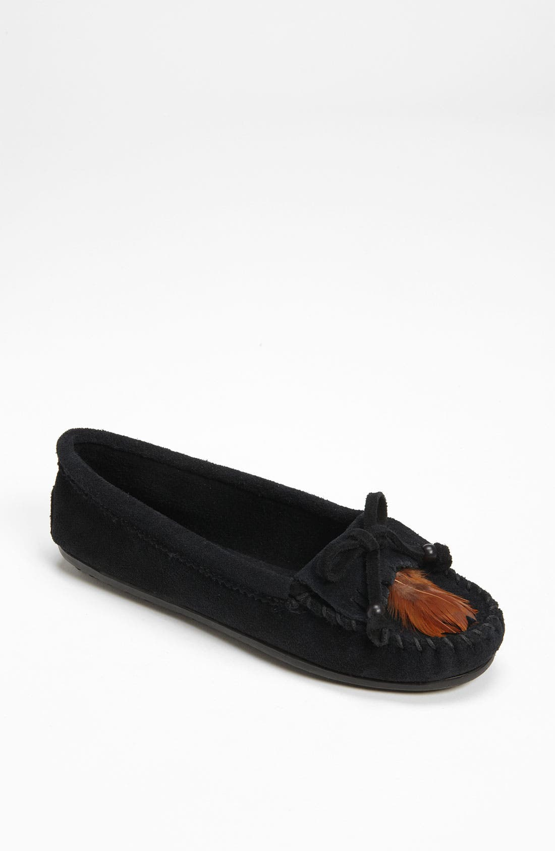Alternate Image 1 Selected - Minnetonka 'Feather' Moccasin (Regular Retail Price: $48.95)