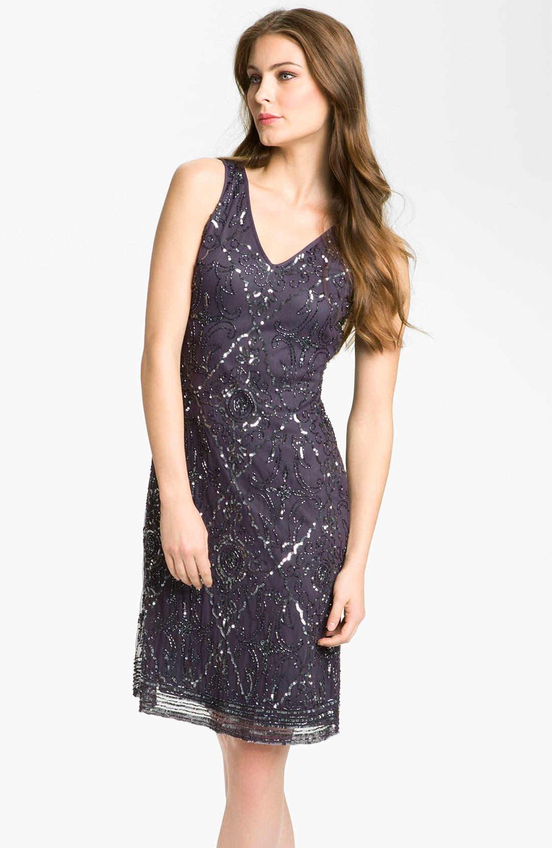 Alternate Image 3  - Patra Beaded Mesh Dress & Bolero