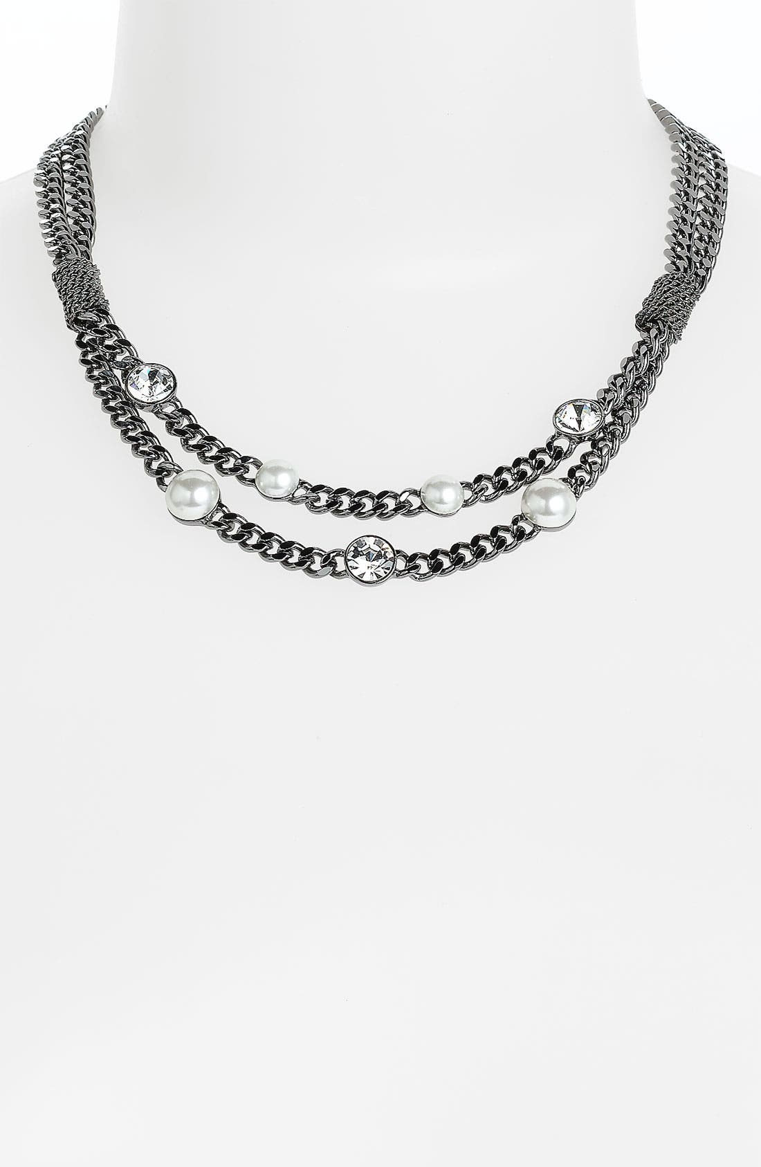 Alternate Image 1 Selected - Givenchy Glass Pearl Collar Necklace