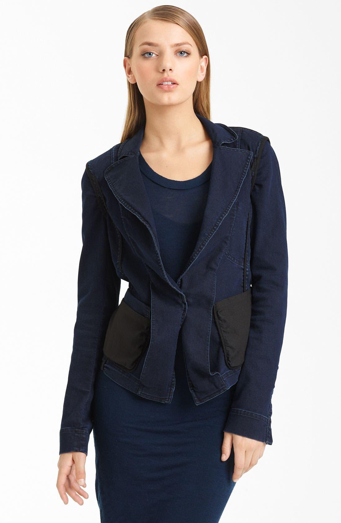 Main Image - Donna Karan Collection Stretch Denim Jacket