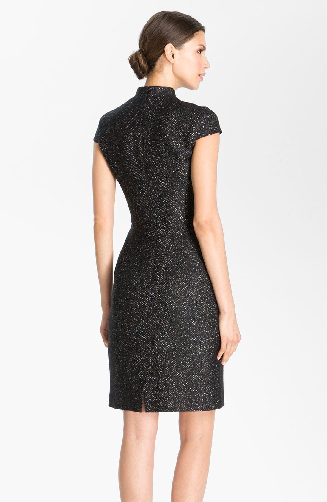 Alternate Image 3  - St. John Collection Chevron Jacquard Dress