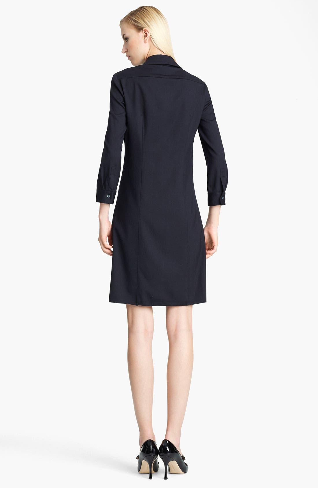 Alternate Image 2  - Jil Sander Navy Stretch Wool Shirtdress