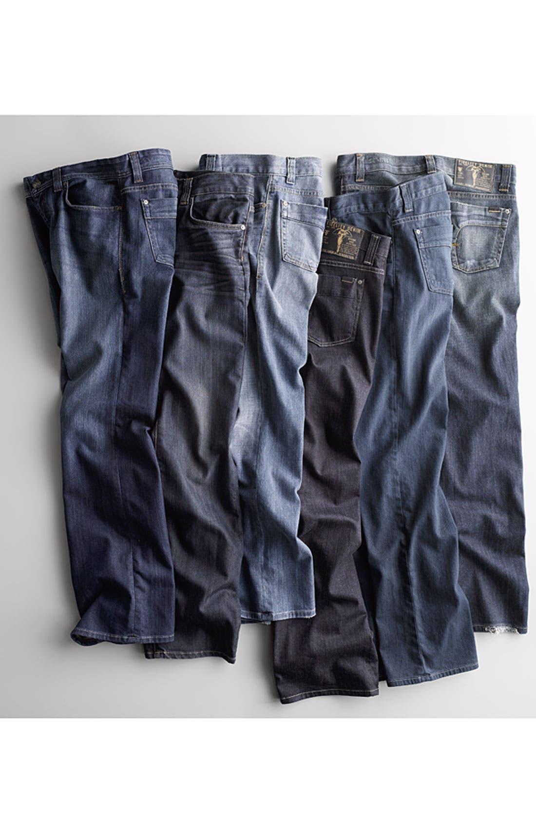 Alternate Image 8  - Fidelity Denim 'Camino' Relaxed Leg Jeans (Pacific Dark)