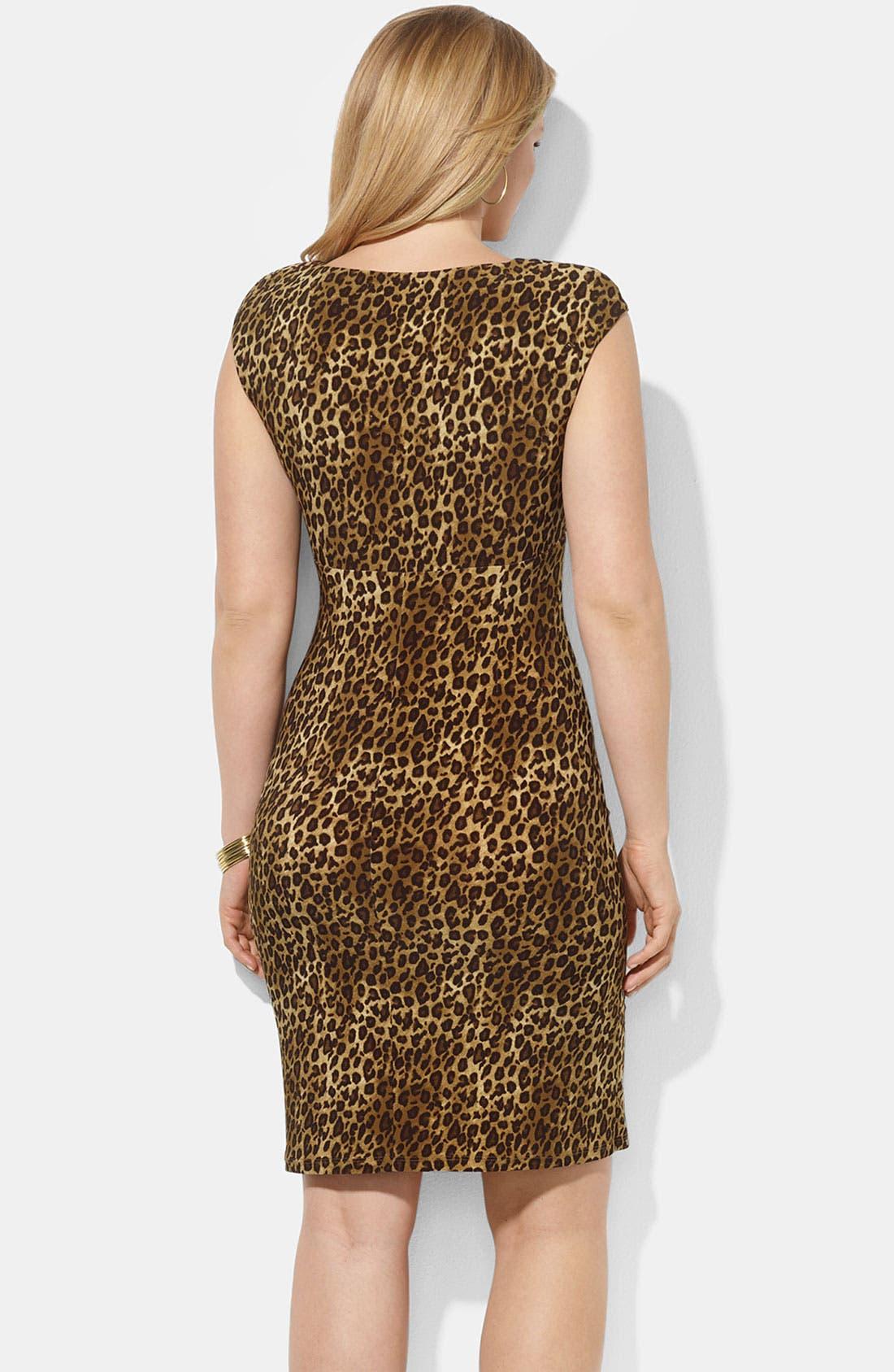 Alternate Image 2  - Lauren Ralph Lauren Print Dress (Plus)