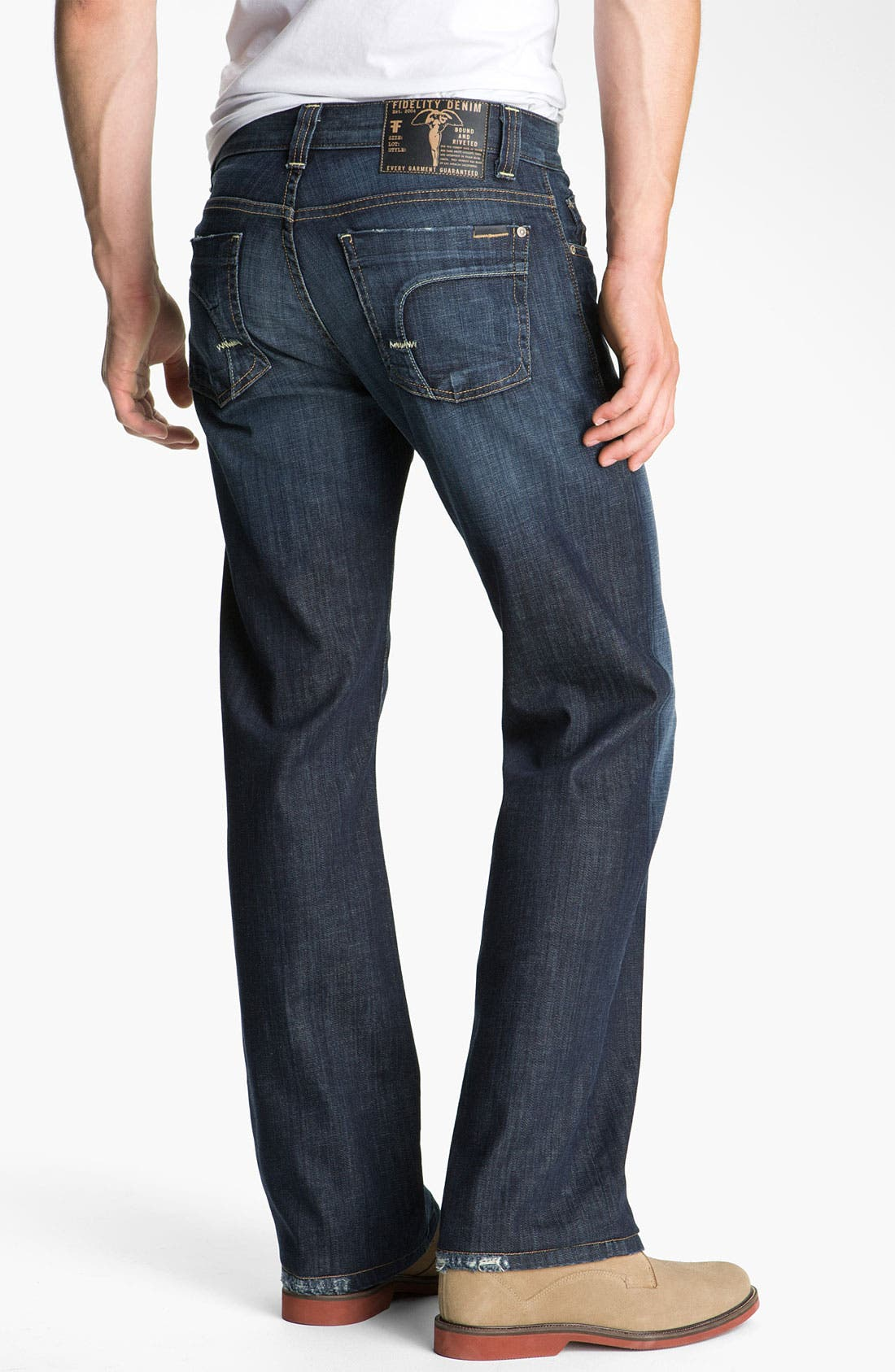 Alternate Image 2  - Fidelity Denim 'Camino' Relaxed Leg Jeans (Generation Blue)