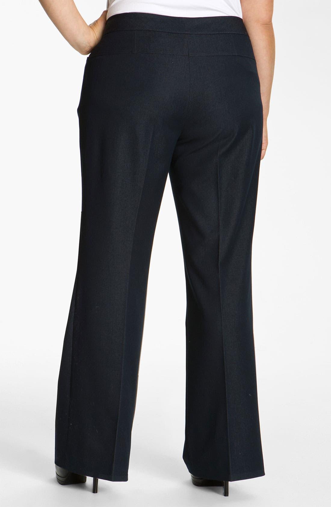 Alternate Image 2  - Tahari Woman 'Wesley' Trousers (Plus)