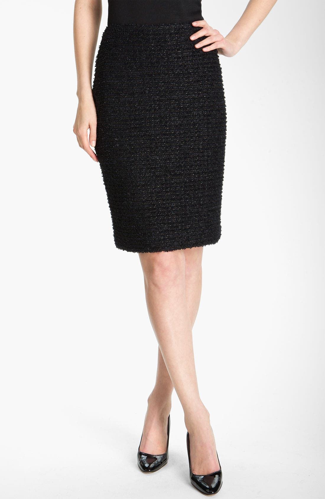 Main Image - St. John Collection Marble Chenille Pencil Skirt
