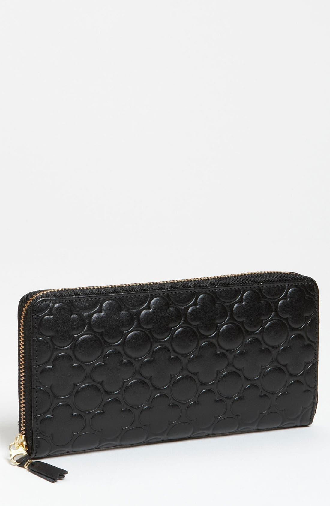 Alternate Image 1 Selected - Comme des Garçons Embossed Clover Continental Long Wallet
