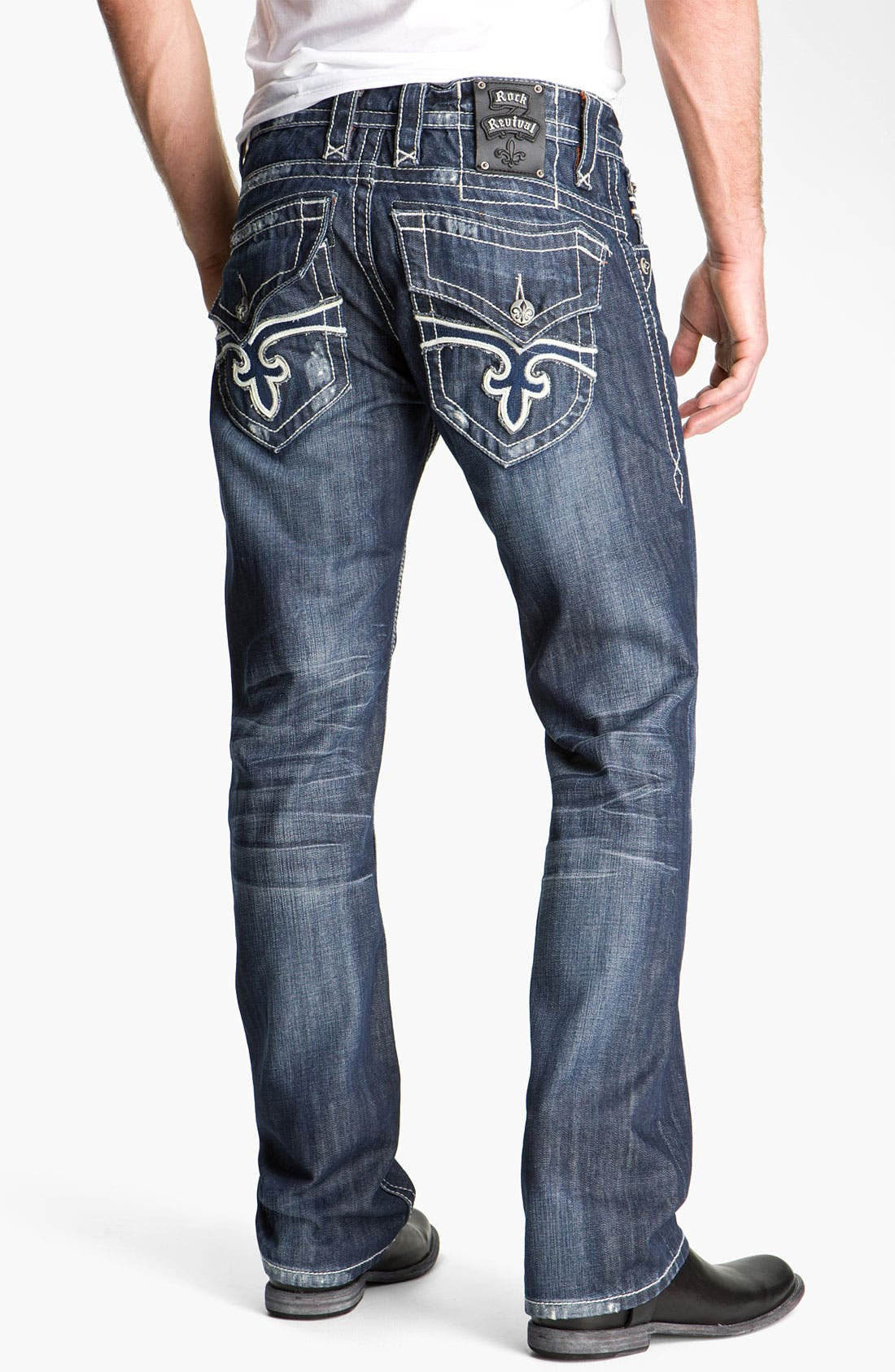 Alternate Image 1  - Rock Revival 'Paul' Straight Leg Jeans (Blue)