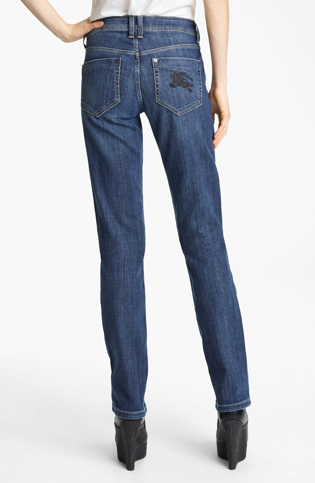 Alternate Image 2  - Burberry Brit Straight Leg Jeans