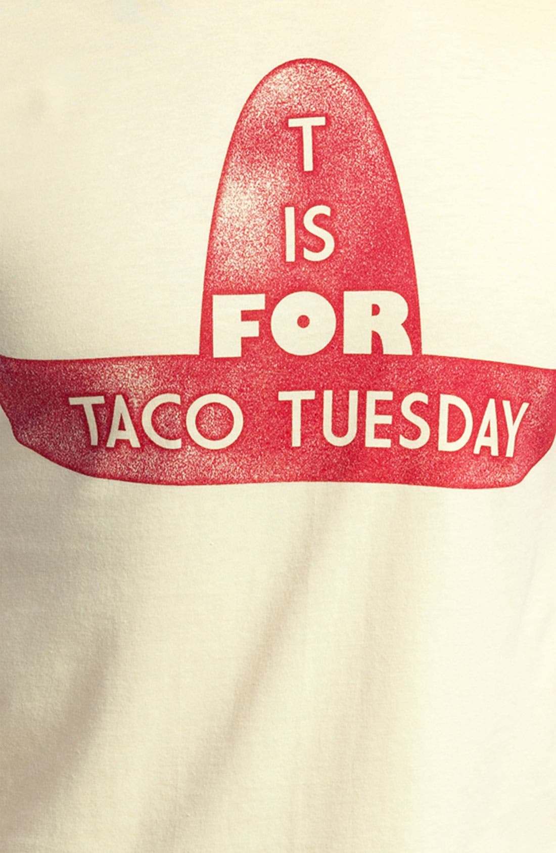 Alternate Image 3  - Topless 'T Is for Taco Tuesday' Graphic T-Shirt (Online Only)