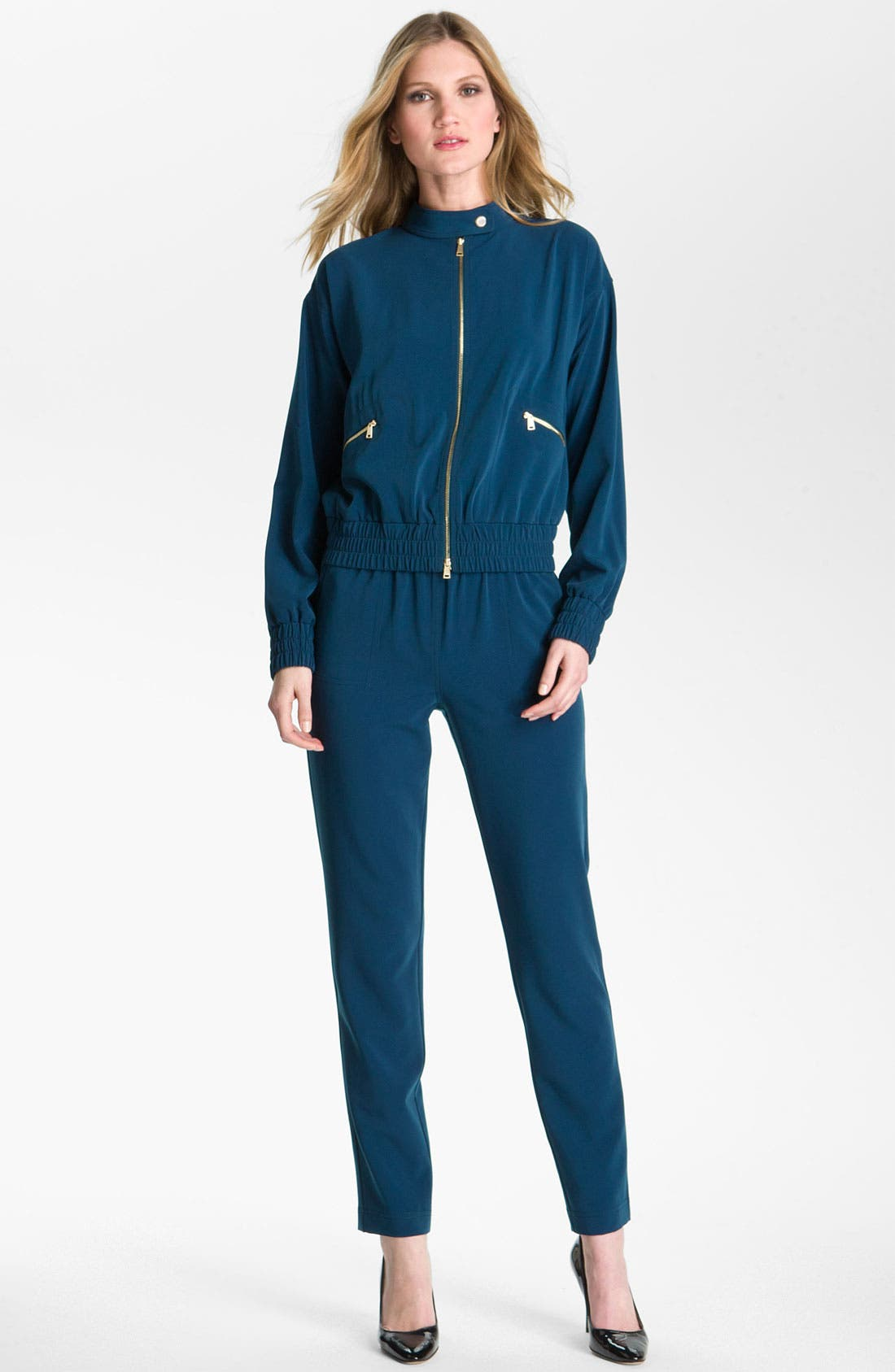 Main Image - St. John Yellow Label Pull On Twill Ankle Pants