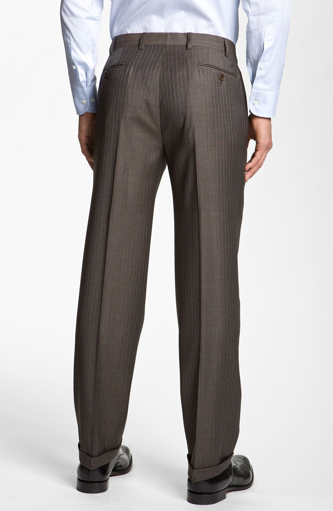 Alternate Image 5  - Armani Collezioni Stripe Wool Suit