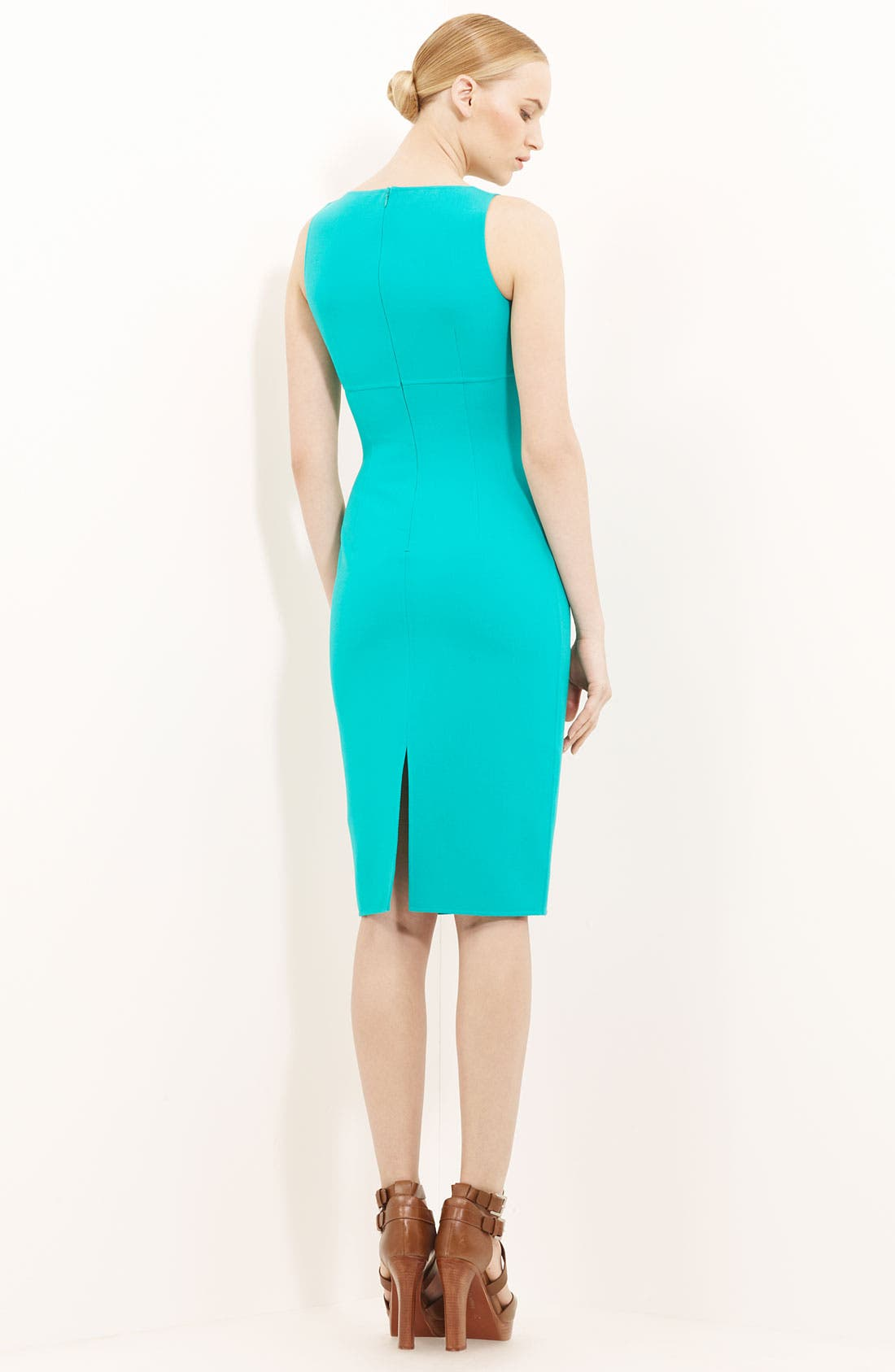 Alternate Image 2  - Michael Kors Wool Crepe Sheath Dress