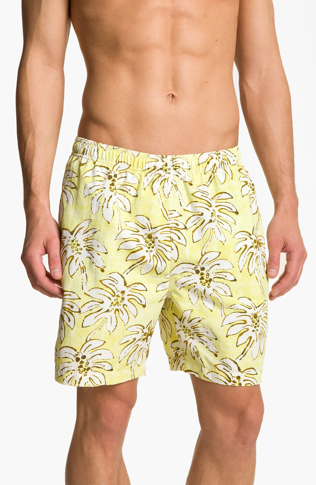 Main Image - Tommy Bahama 'Palm Down' Swim Trunks