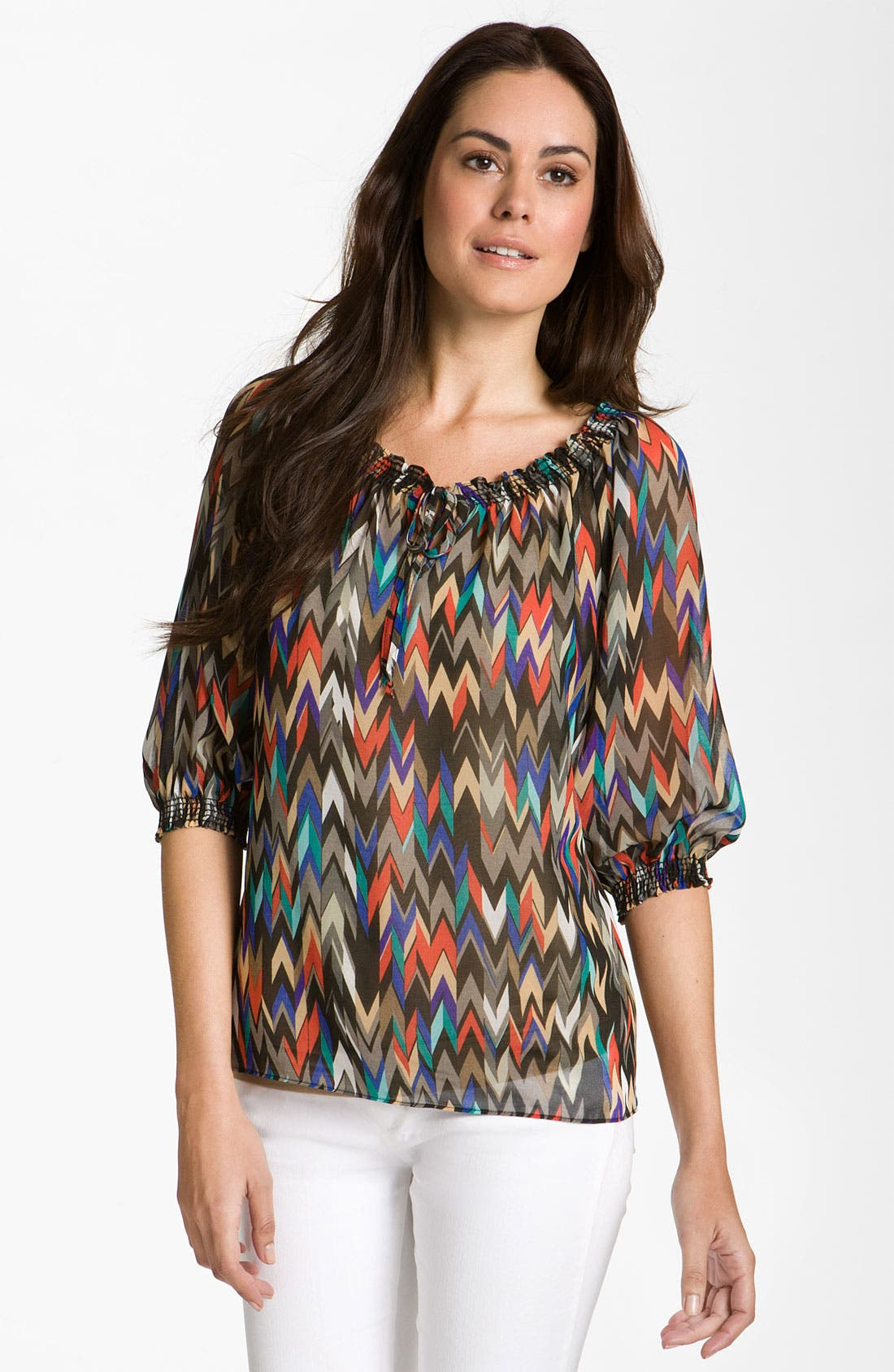 Main Image - Eight Sixty Peasant Blouse (Petite)